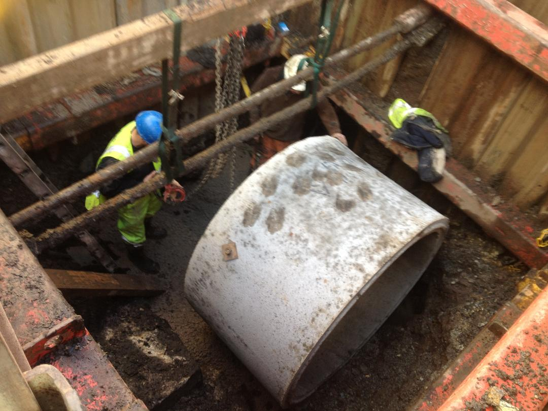 Deep Manhole Construction