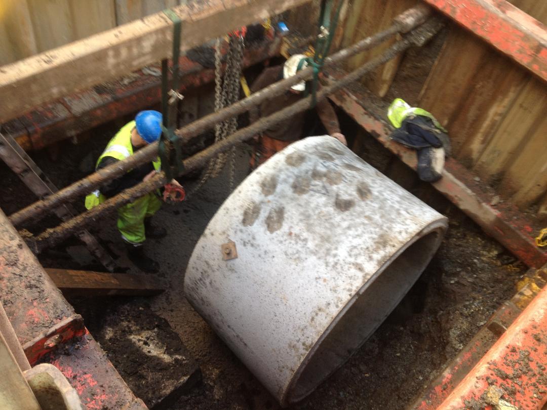Deep Manhole Construction
