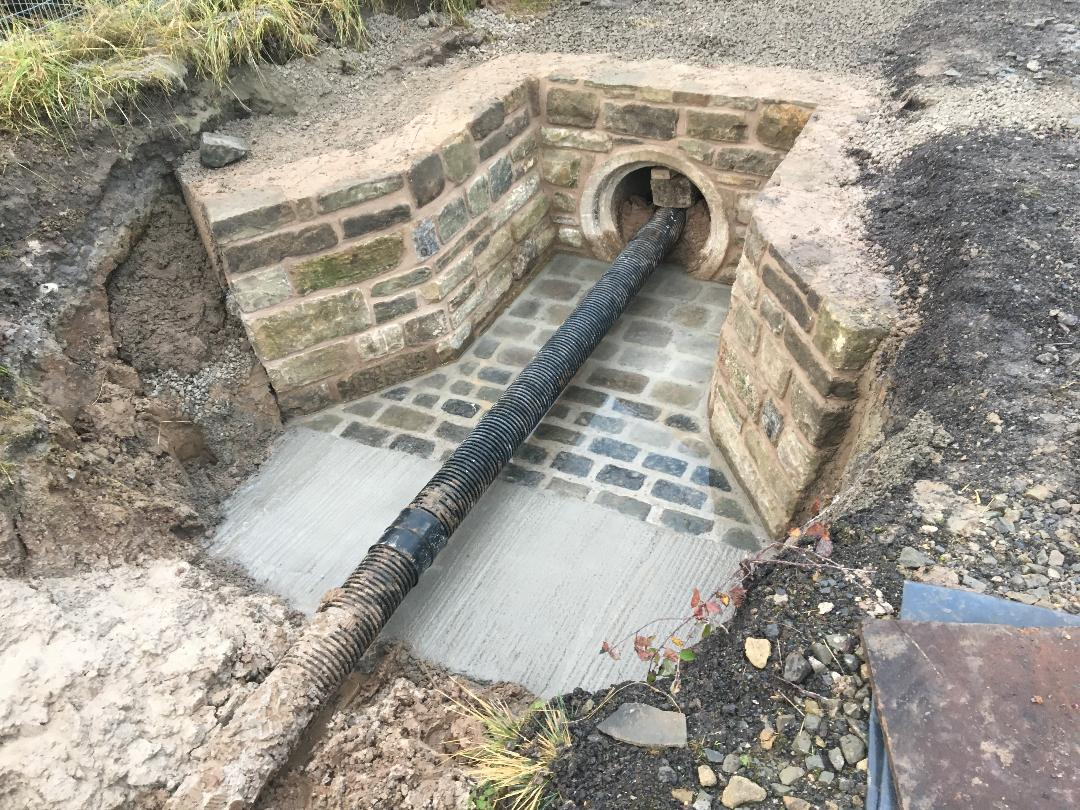 Pipe and Headwall Installation